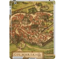 Colmar Vintage map.Geography France ,city view,building,political,Lithography,historical fashion,geo design,Cartography,Country,Science,history,urban iPad Case/Skin