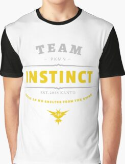Team Instinct Pokemon Go Vintage Graphic T-Shirt