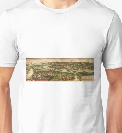 Conil Vintage map.Geography Spain ,city view,building,political,Lithography,historical fashion,geo design,Cartography,Country,Science,history,urban Unisex T-Shirt