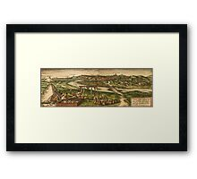 Conil Vintage map.Geography Spain ,city view,building,political,Lithography,historical fashion,geo design,Cartography,Country,Science,history,urban Framed Print