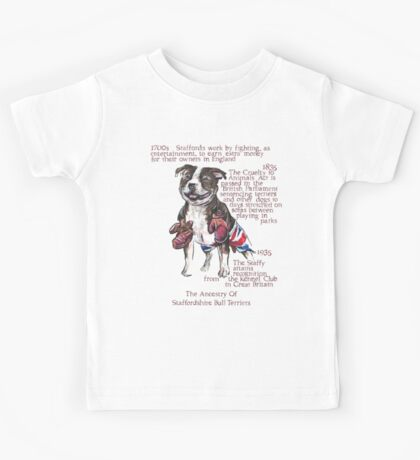 Staffordshire Bull Terrier History Kids Tee
