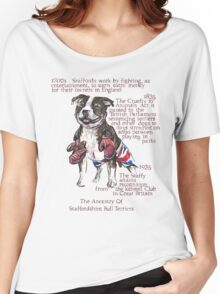 Staffordshire Bull Terrier History Women's Relaxed Fit T-Shirt