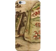 Corfu Vintage map.Geography Greece ,city view,building,political,Lithography,historical fashion,geo design,Cartography,Country,Science,history,urban iPhone Case/Skin