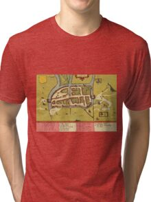Cork Vintage map.Geography Irland ,city view,building,political,Lithography,historical fashion,geo design,Cartography,Country,Science,history,urban Tri-blend T-Shirt