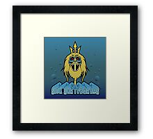 Triton's Crown - Sick Skateboards by TheArtistGrimm Framed Print