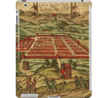 Cusco Vintage map.Geography Peru ,city view,building,political,Lithography,historical fashion,geo design,Cartography,Country,Science,history,urban iPad Case/Skin