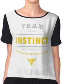 Team Instinct Pokemon Go Vintage Chiffon Top