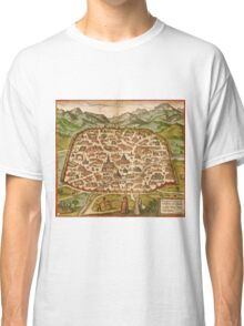Damascus Vintage map.Geography Syria ,city view,building,political,Lithography,historical fashion,geo design,Cartography,Country,Science,history,urban Classic T-Shirt