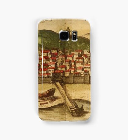 Diu Vintage map.Geography India ,city view,building,political,Lithography,historical fashion,geo design,Cartography,Country,Science,history,urban Samsung Galaxy Case/Skin