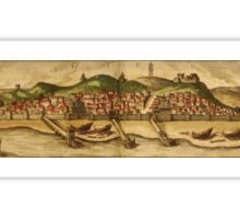Diu Vintage map.Geography India ,city view,building,political,Lithography,historical fashion,geo design,Cartography,Country,Science,history,urban Sticker