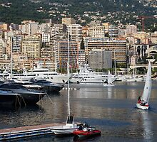 Monte Carlo Sailing - Monaco, French Riviera  by Georgia Mizuleva
