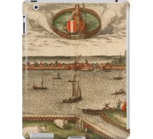 Dordrecht Vintage map.Geography Netherlands ,city view,building,political,Lithography,historical fashion,geo design,Cartography,Country,Science,history,urban iPad Case/Skin