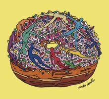 Human Donut Sprinkles Pattern Kids Tee