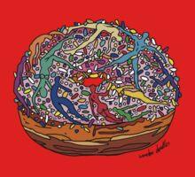 Human Donut Sprinkles Pattern Baby Tee