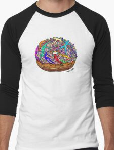 Human Donut Sprinkles Pattern Men's Baseball ¾ T-Shirt