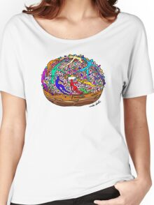 Human Donut Sprinkles Pattern Women's Relaxed Fit T-Shirt