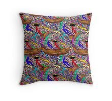 Human Donut Sprinkles Pattern Throw Pillow