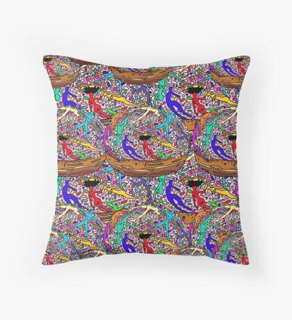 Human Donut Sprinkles Pattern Throw Pillow