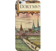 Dortmund Vintage map.Geography Germany ,city view,building,political,Lithography,historical fashion,geo design,Cartography,Country,Science,history,urban iPhone Case/Skin