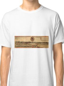 Dresden Vintage map.Geography Germany ,city view,building,political,Lithography,historical fashion,geo design,Cartography,Country,Science,history,urban Classic T-Shirt