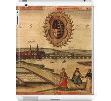Dresden Vintage map.Geography Germany ,city view,building,political,Lithography,historical fashion,geo design,Cartography,Country,Science,history,urban iPad Case/Skin