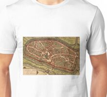Duiisburg Vintage map.Geography Germany ,city view,building,political,Lithography,historical fashion,geo design,Cartography,Country,Science,history,urban Unisex T-Shirt