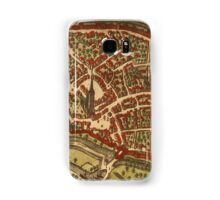 Duiisburg Vintage map.Geography Germany ,city view,building,political,Lithography,historical fashion,geo design,Cartography,Country,Science,history,urban Samsung Galaxy Case/Skin