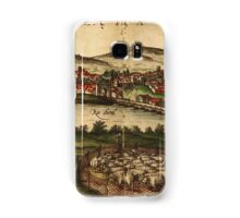 Ecija Vintage map.Geography Spain ,city view,building,political,Lithography,historical fashion,geo design,Cartography,Country,Science,history,urban Samsung Galaxy Case/Skin