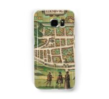 Edinburgh Vintage map.Geography Great Britain ,city view,building,political,Lithography,historical fashion,geo design,Cartography,Country,Science,history,urban Samsung Galaxy Case/Skin