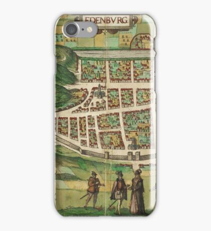 Edinburgh Vintage map.Geography Great Britain ,city view,building,political,Lithography,historical fashion,geo design,Cartography,Country,Science,history,urban iPhone Case/Skin