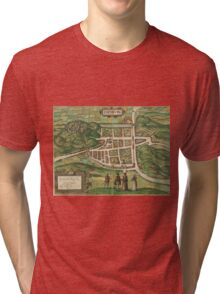 Edinburgh Vintage map.Geography Great Britain ,city view,building,political,Lithography,historical fashion,geo design,Cartography,Country,Science,history,urban Tri-blend T-Shirt