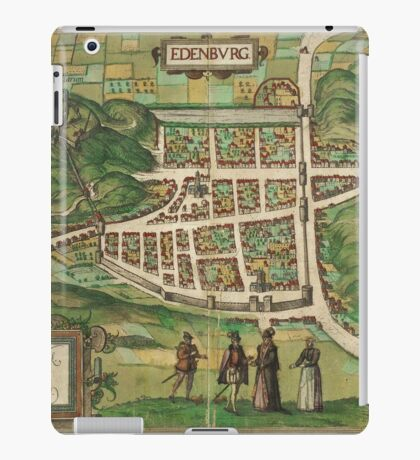 Edinburgh Vintage map.Geography Great Britain ,city view,building,political,Lithography,historical fashion,geo design,Cartography,Country,Science,history,urban iPad Case/Skin