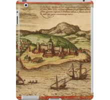 Elmina Vintage map.Geography Africa ,city view,building,political,Lithography,historical fashion,geo design,Cartography,Country,Science,history,urban iPad Case/Skin