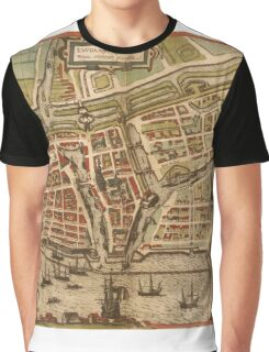 Emden Vintage map.Geography Germany ,city view,building,political,Lithography,historical fashion,geo design,Cartography,Country,Science,history,urban Graphic T-Shirt