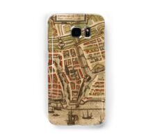 Emden Vintage map.Geography Germany ,city view,building,political,Lithography,historical fashion,geo design,Cartography,Country,Science,history,urban Samsung Galaxy Case/Skin