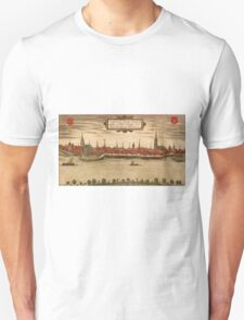 Emmerich Vintage map.Geography Germany ,city view,building,political,Lithography,historical fashion,geo design,Cartography,Country,Science,history,urban Unisex T-Shirt