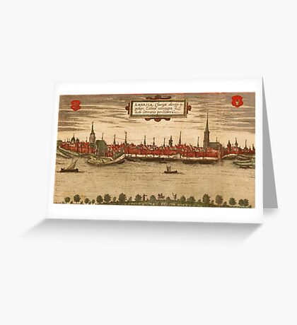 Emmerich Vintage map.Geography Germany ,city view,building,political,Lithography,historical fashion,geo design,Cartography,Country,Science,history,urban Greeting Card