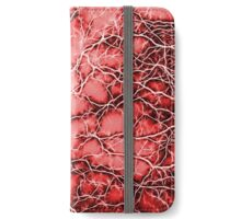 Red Thunders, Bolts, Lightning on sky pattern iPhone Wallet/Case/Skin