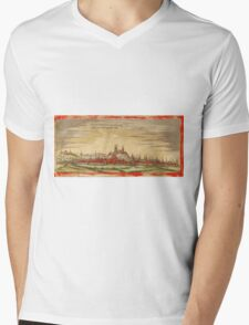 Erfurt Vintage map.Geography Germany ,city view,building,political,Lithography,historical fashion,geo design,Cartography,Country,Science,history,urban Mens V-Neck T-Shirt