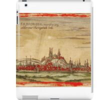 Erfurt Vintage map.Geography Germany ,city view,building,political,Lithography,historical fashion,geo design,Cartography,Country,Science,history,urban iPad Case/Skin