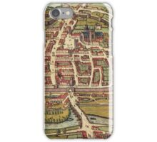 Exeter Vintage map.Geography Great Britain ,city view,building,political,Lithography,historical fashion,geo design,Cartography,Country,Science,history,urban iPhone Case/Skin