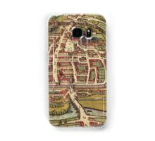Exeter Vintage map.Geography Great Britain ,city view,building,political,Lithography,historical fashion,geo design,Cartography,Country,Science,history,urban Samsung Galaxy Case/Skin