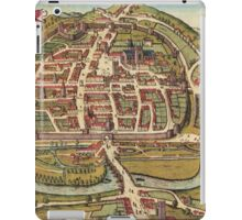 Exeter Vintage map.Geography Great Britain ,city view,building,political,Lithography,historical fashion,geo design,Cartography,Country,Science,history,urban iPad Case/Skin