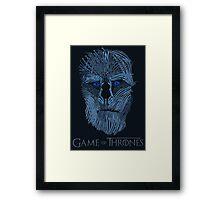 Blue Steel White Walker Framed Print