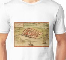 Famagusta Vintage map.Geography Northern Cyprus ,city view,building,political,Lithography,historical fashion,geo design,Cartography,Country,Science,history,urban Unisex T-Shirt