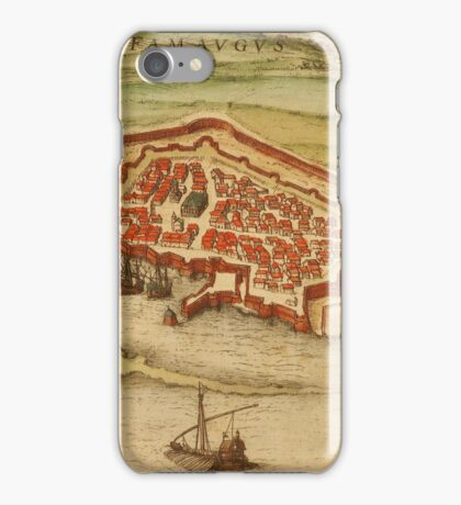 Famagusta Vintage map.Geography Northern Cyprus ,city view,building,political,Lithography,historical fashion,geo design,Cartography,Country,Science,history,urban iPhone Case/Skin