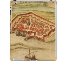 Famagusta Vintage map.Geography Northern Cyprus ,city view,building,political,Lithography,historical fashion,geo design,Cartography,Country,Science,history,urban iPad Case/Skin