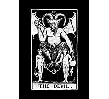 The Devil Tarot Card - Major Arcana - fortune telling - occult Photographic Print