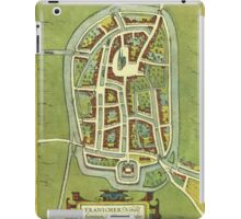 Franeker Vintage map.Geography Netherlands ,city view,building,political,Lithography,historical fashion,geo design,Cartography,Country,Science,history,urban iPad Case/Skin