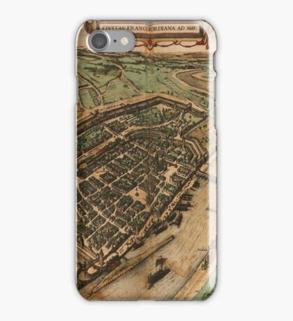 Frankfurt Am Main Vintage map.Geography Germany ,city view,building,political,Lithography,historical fashion,geo design,Cartography,Country,Science,history,urban iPhone Case/Skin